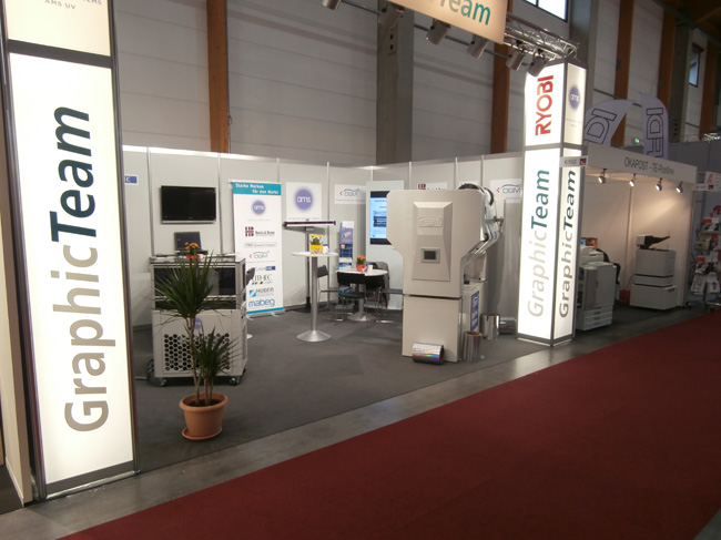 DGM Booth at the Druck+Form Exhibition in Sinsheim, Germany