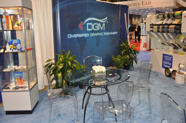 DGM Booth at the 2012 Graph Expo Trade Show