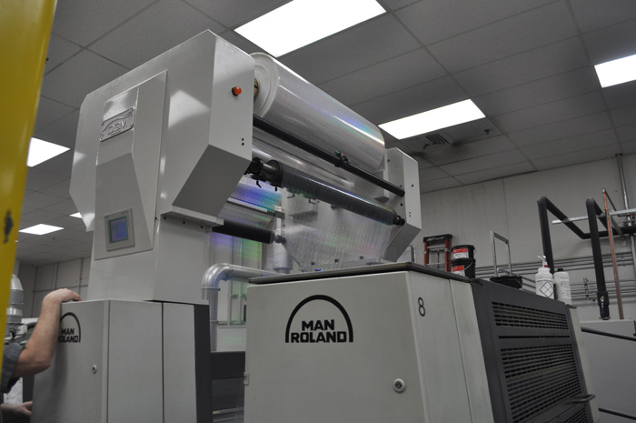 manroland cold foil indexing, uv cast and cure foildex system