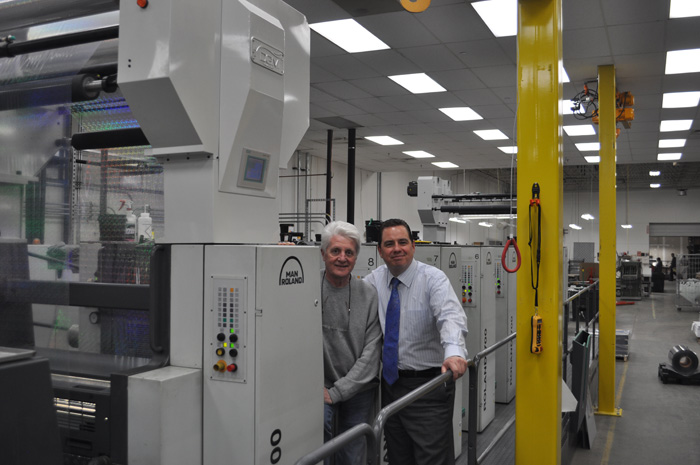 Michael DeBard and John Hopkinson of DGM and a recently installed Foildex system