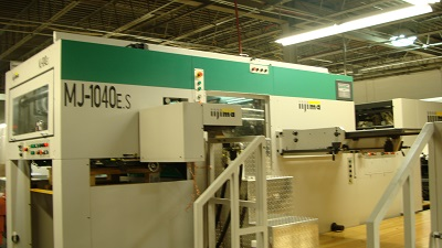 Iijima MJ 1040-ES Foil Stamping, Embossing and Die Cutting Press