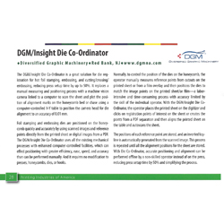 Die Co-Ordinator Digital Die Registration System Intertech Award Nominee