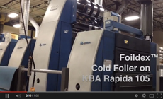 DGM's Foildex at Rock Tenn Cold Foil Indexing for manroland, Heidelberg, and KBA presses