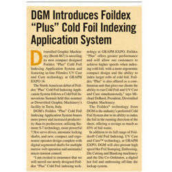 DGM-Introduces Foildex