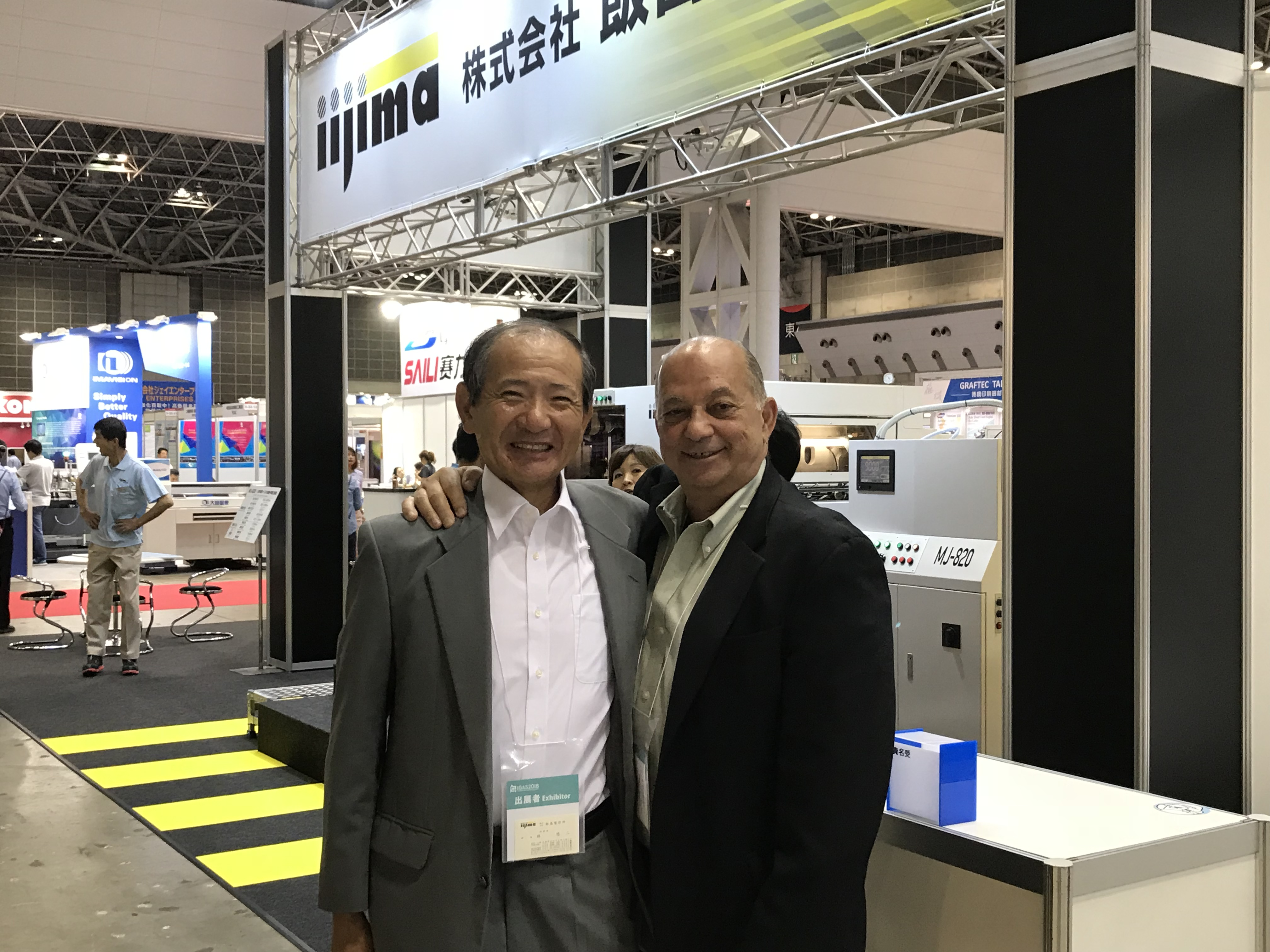 Friends for a long time, Mr Hayashi and Walter Sussuma