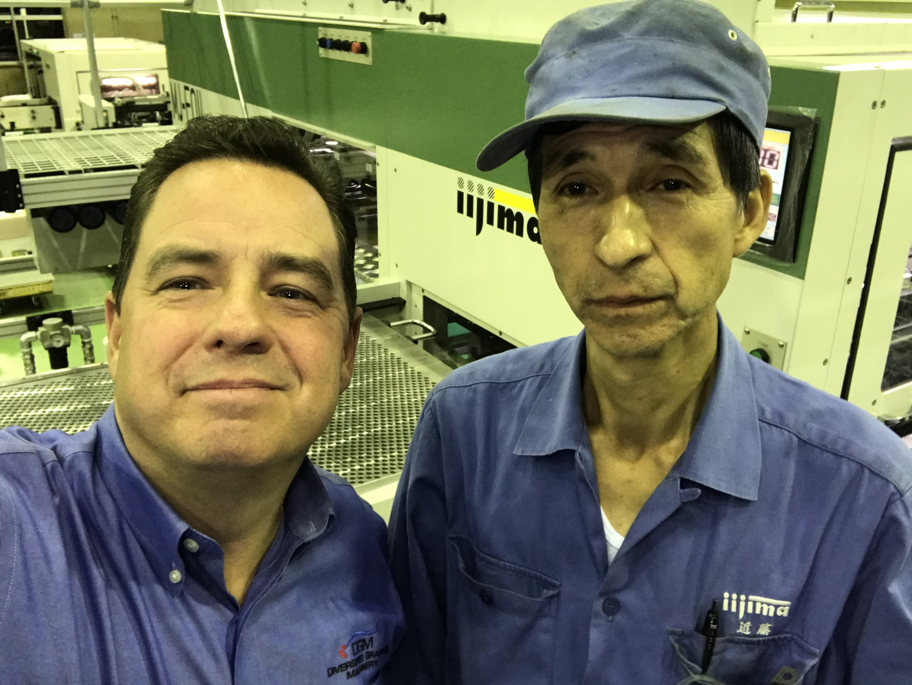 Michael DeBard and Kondo San at the Iijima Factory in Koga Japan
