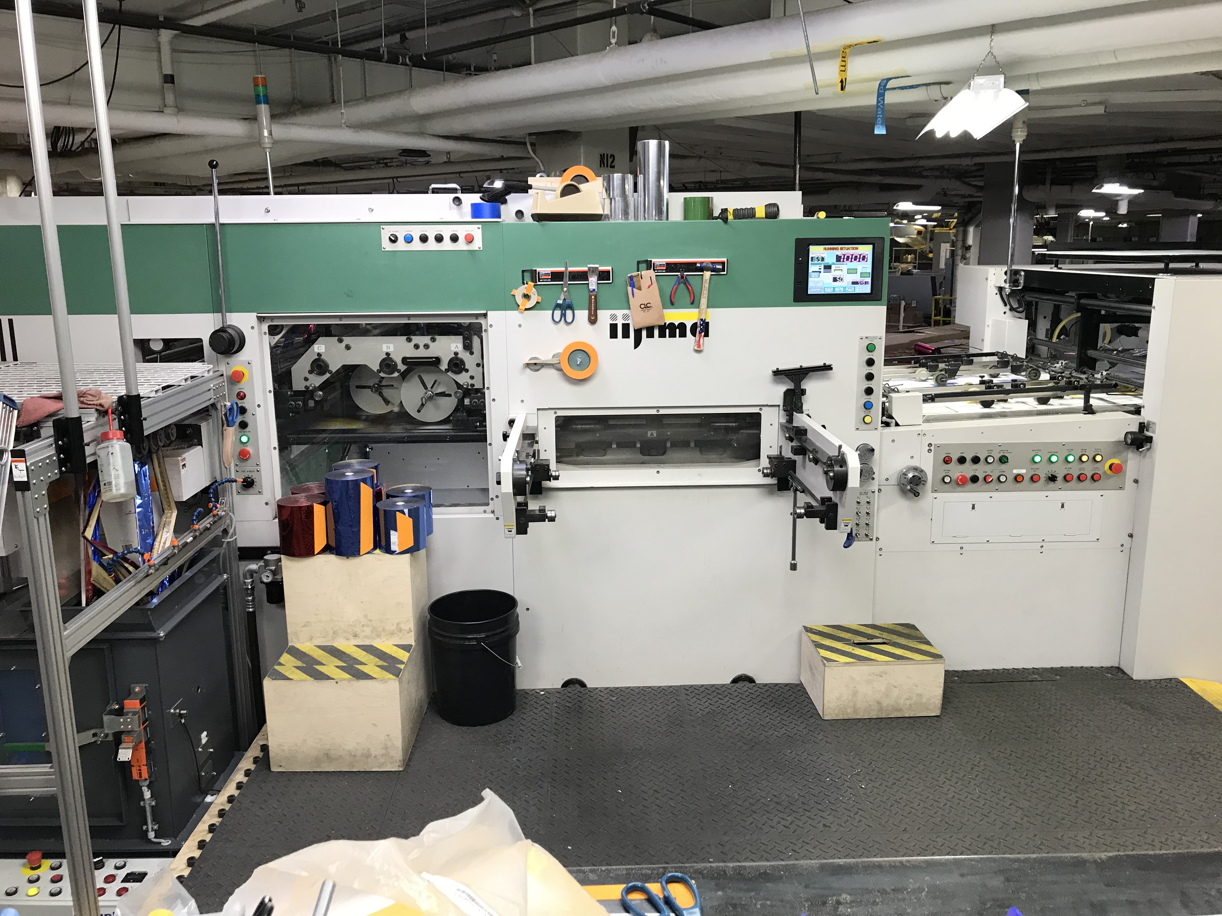 Iijima Non Stop Video Hot Foil Stamper Iijima MJ 1040ES
